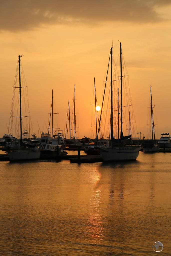 Sunset at Santa Marta, the oldest city in Colombia, founded in 1525 by Rodrigo de Bastidas, a Spanish conquistador.