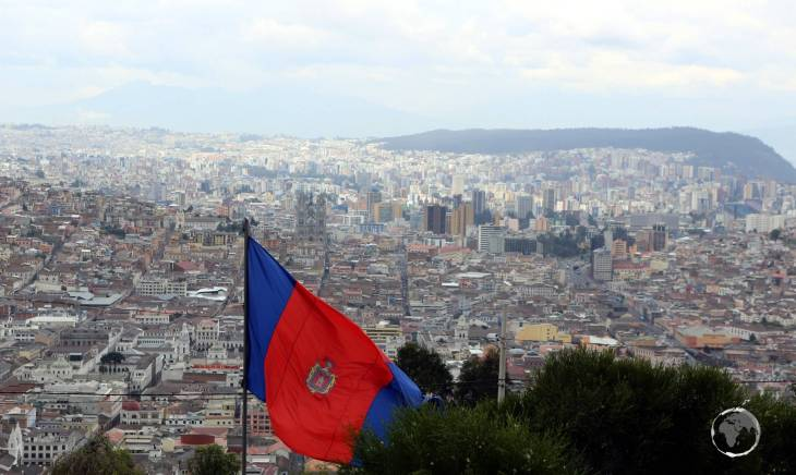 Home to two million people, Quito, Ecuador's capital, sits high in the Andean foothills at an altitude of 2,850 metres (9,350 ft).