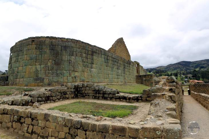 The highlight of the Inca ruins at Ingapirca is the 'Temple of the Sun', a large elliptical-shaped construction once used for ritual and astronomical purposes.