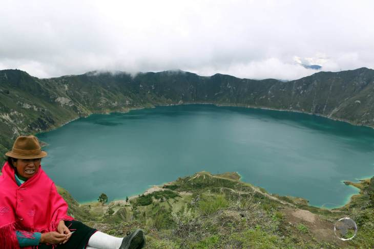 Located in central Ecuador, 'Quilitoa' is a 250-metre-deep (820 feet) crater lake which was formed about 600 years ago as a result of a catastrophic eruption.