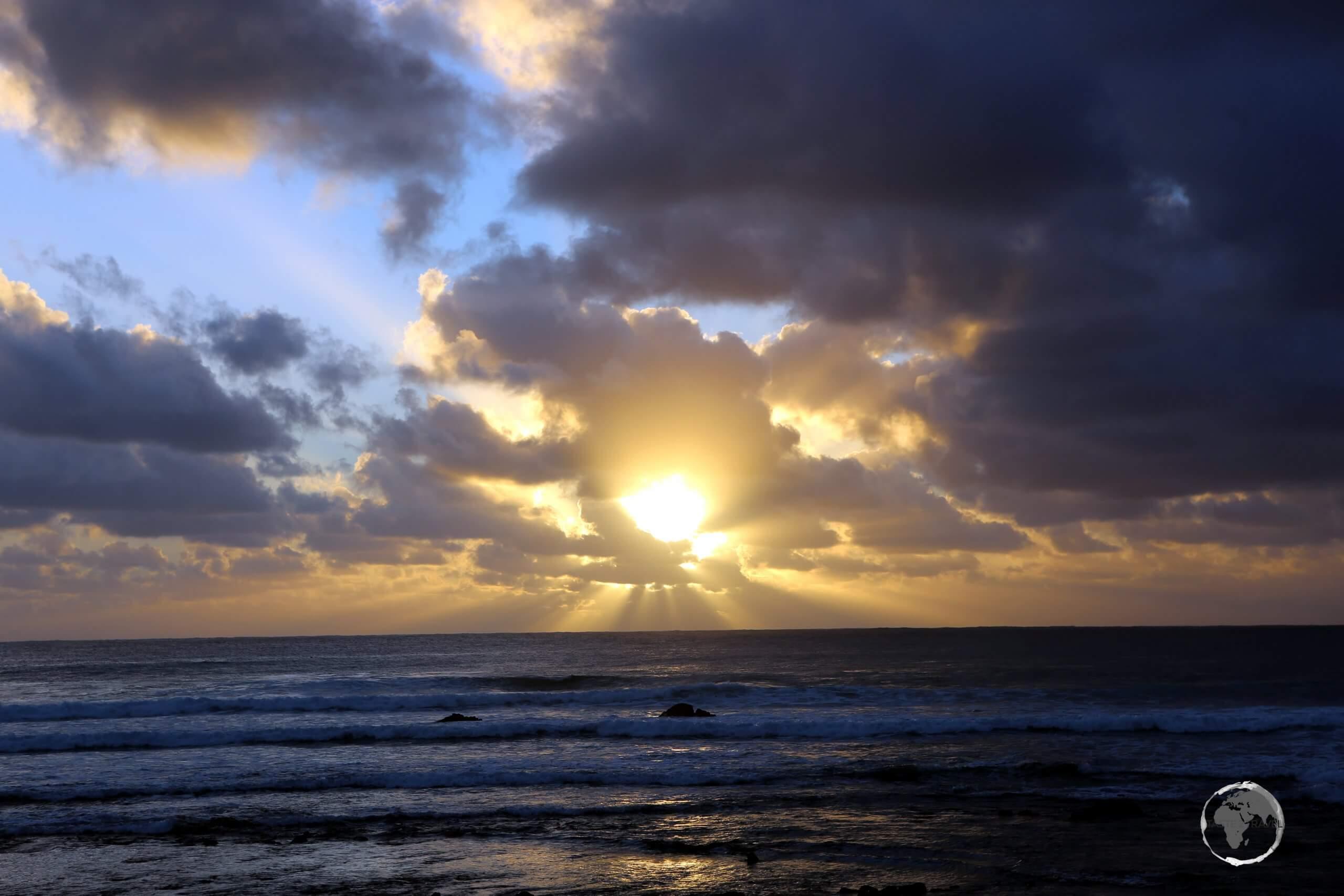 Sunrise on Easter Island.
