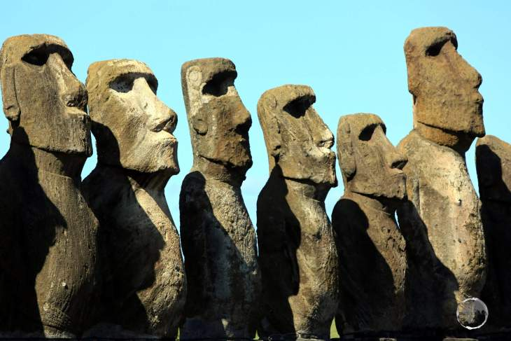 The largest Moai at Ahu Tongariki weighs in at eighty-six tonnes!