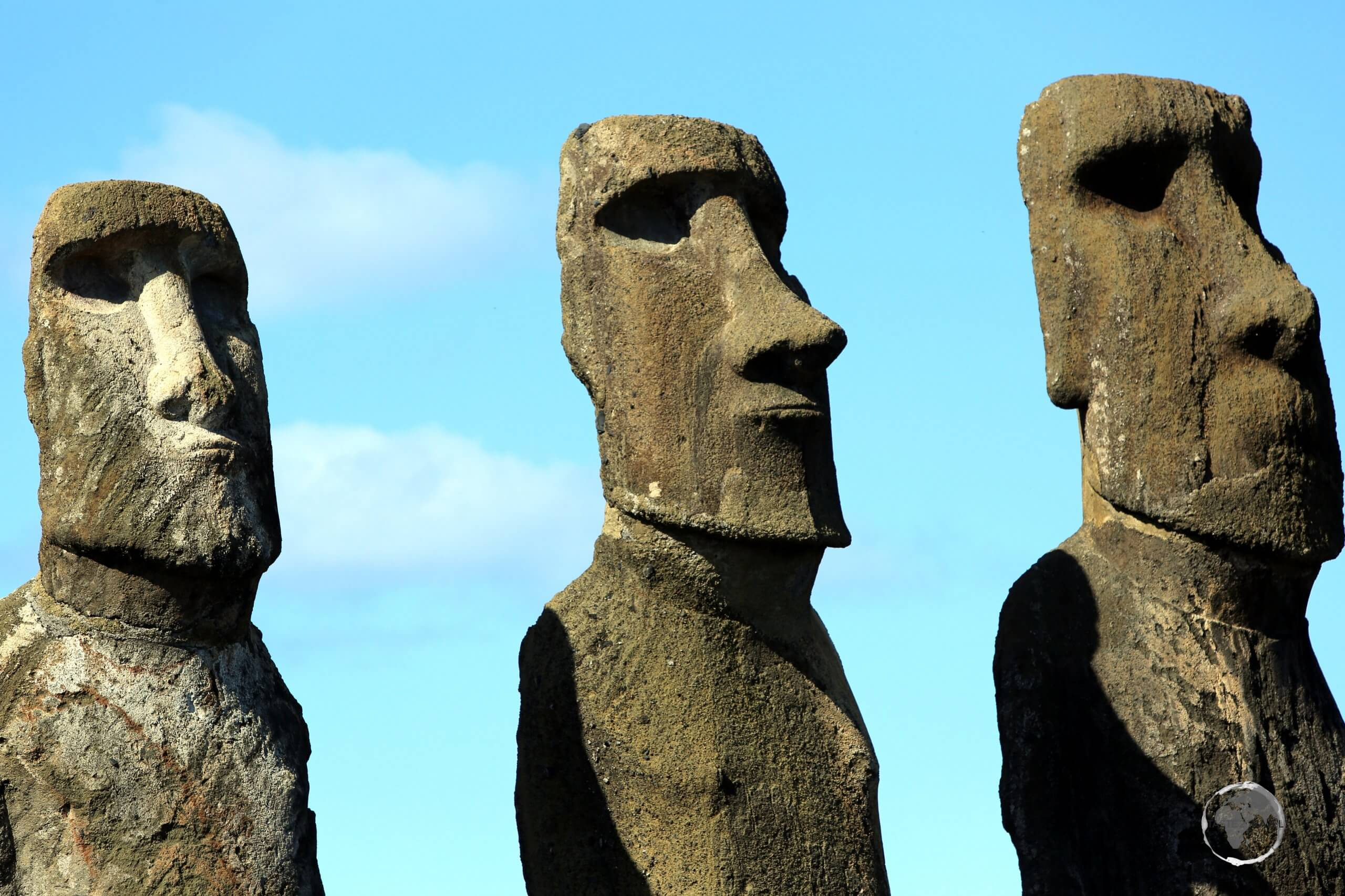 All moai were installed with empty eye sockets. Once their eyes were added, the statue was given 'life', and was then able to offer protection to the inhabitants of Easter Island.