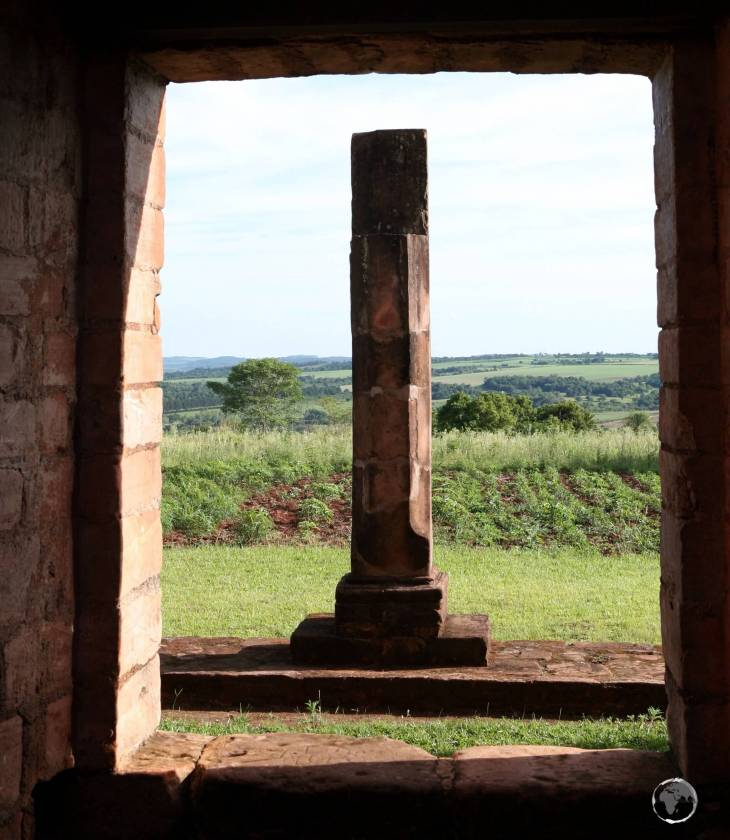 Construction of the 'Jesús de Tavarangue' mission was not completed by the time the Jesuit order was expelled from Paraguay in 1767.
