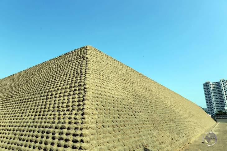 Located in the San Isidro neighbourhood of the Peruvian capital, Lima, Huaca Huallamarca is an adobe pyramid dating from around 200 to 500 AD.