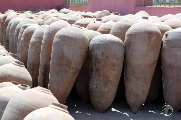 Pisco barrels at the Tacama winery in Ica, Peru.