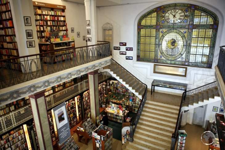 A bibliophile's paradise, the Puro Verso bookshop in Montevideo is housed inside an opulent Art Nouveau building.