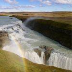 Always a rainbow at Gullfoss waterfall.