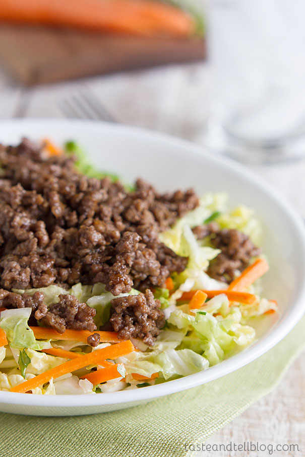 Asian Beef and Cabbage Salad Recipe - Taste and Tell