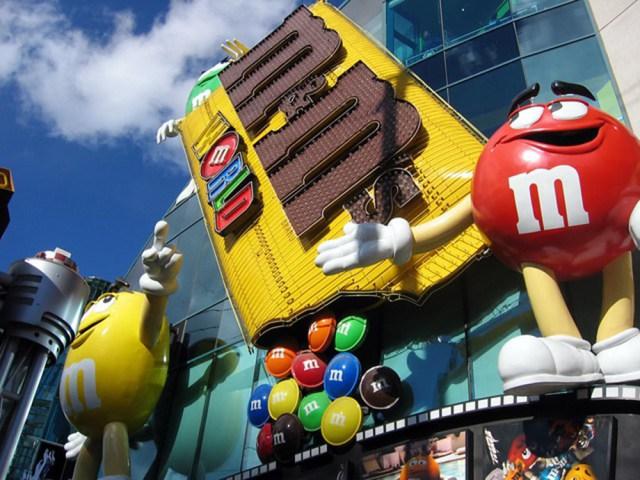 M&M Factory in Las Vegas Building Front