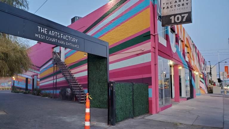 Arts Factory entrance Taste Buzz Vegas Food Tours