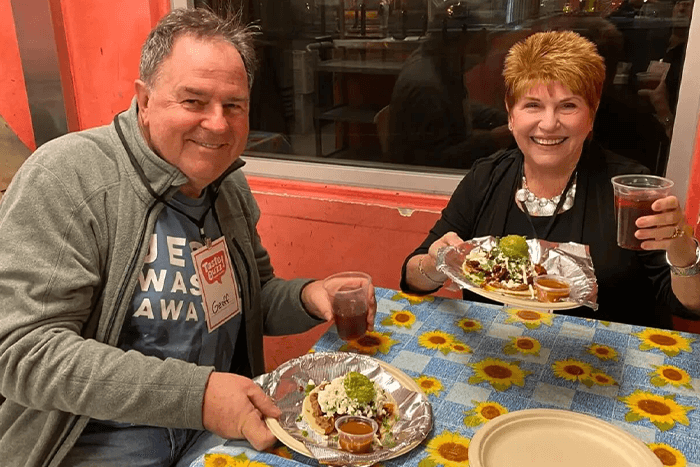 on the downtown delights tour you will eat your way through Fremont Street and more
