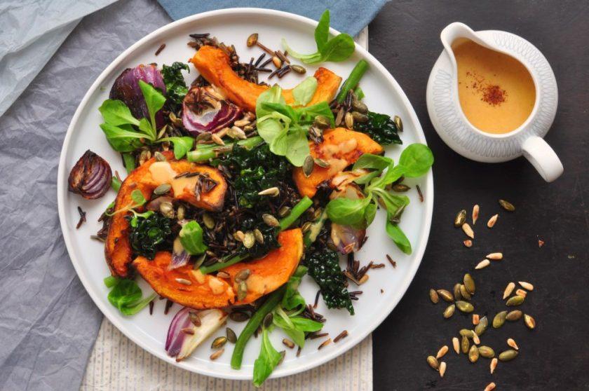 The_new_green_salad_salad_vildrissallad_med_rostad_pumpa