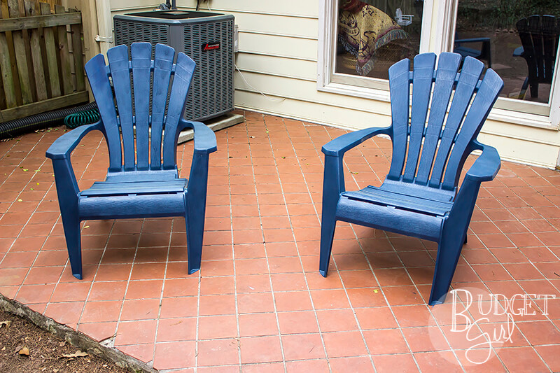 how to paint plastic chairs dining chair slipcovers nz patio tastefully eclectic clean