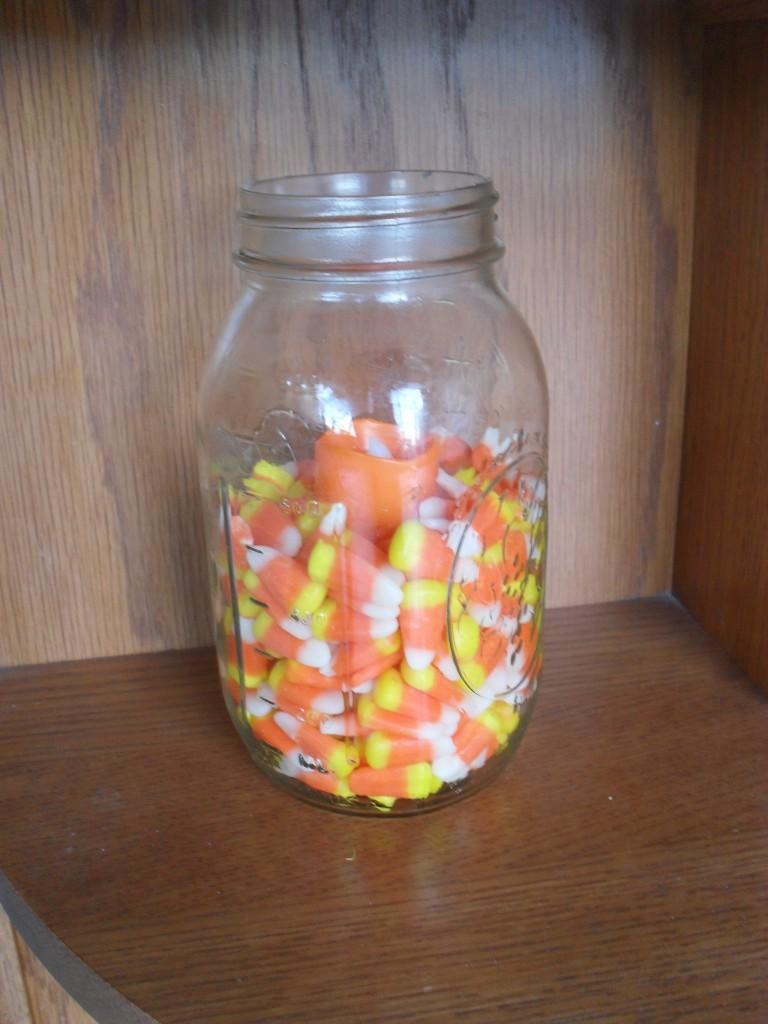Mason Jar Candy Corn Candle  Tasteful Space