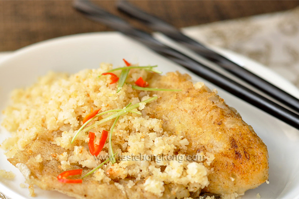 Fish Fillet with Soy Bean Crumbs 豆酥魚