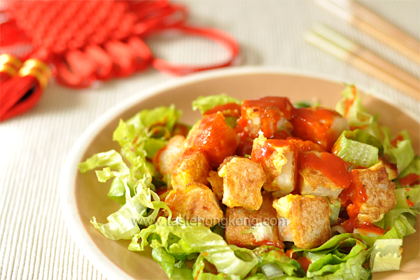 Stir-Fried Chinese Turnip Cake / Radish Cake / Lo Bak Gou 蘿蔔糕