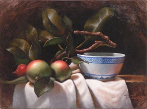 Apples and Rice Bowl 2 by Timothy Jones - http://www.timothyjonesfineart.net