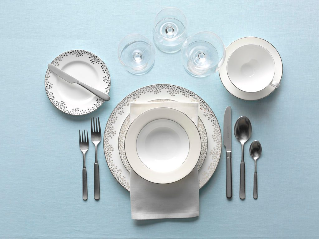 hight resolution of formal dinner table setting