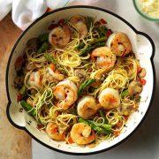 """asparagus """" shrimp with angel"""