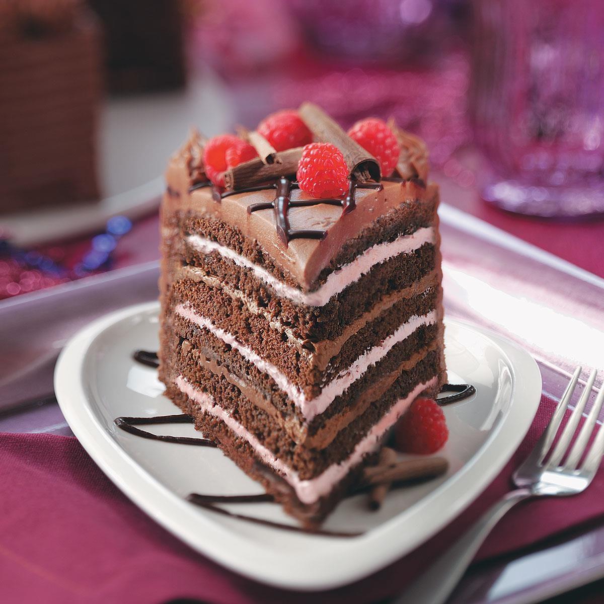 Best Chocolate Raspberry Torte Recipe  Taste of Home