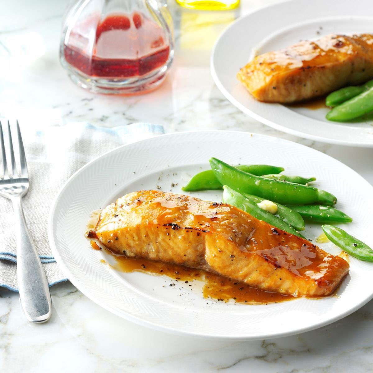 Brown SugarGlazed Salmon Recipe  Taste of Home