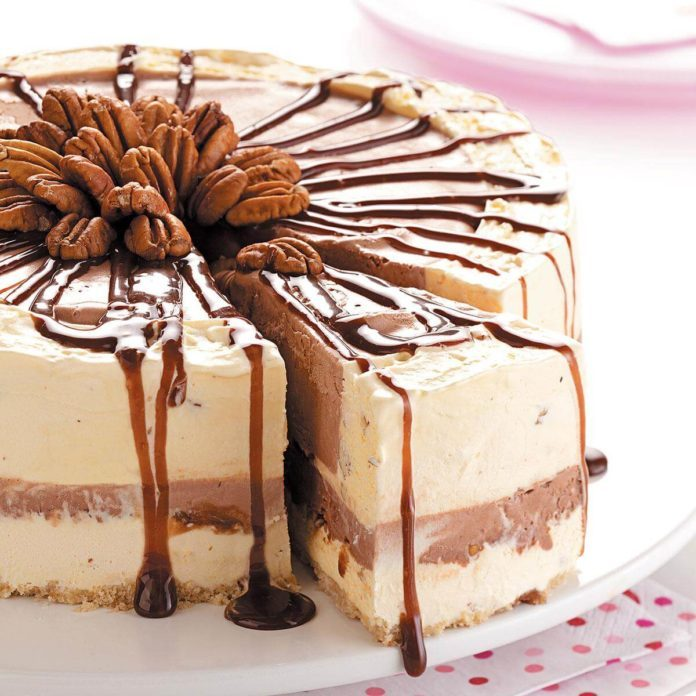 Chocolate Pecan Ice Cream Torte Recipe  Taste of Home