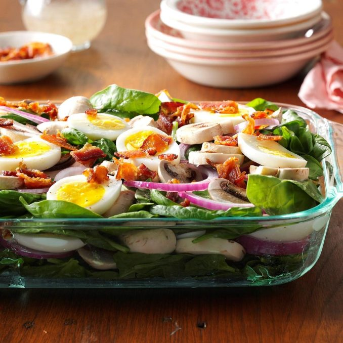 Grandma's Spinach Salad Recipe | Taste of Home