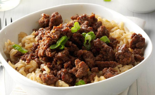 Korean Beef And Rice Recipe Taste Of Home