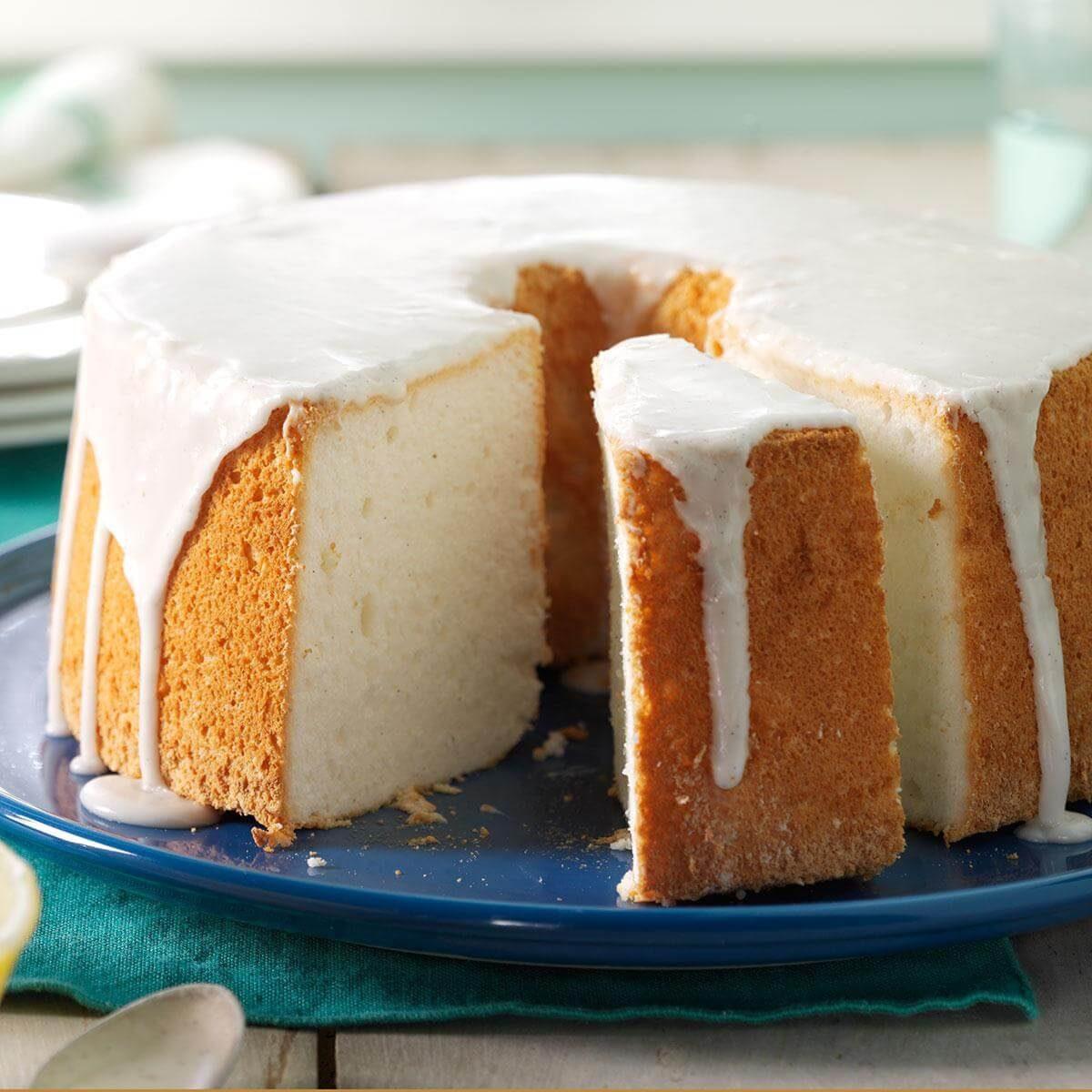 Vanilla Bean Angel Food Cake Recipe Taste Of Home