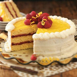 Raspberry Lemon Cake Recipe Taste Of Home
