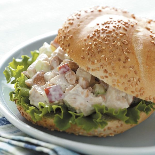 Cashew Chicken Salad Sandwiches Recipe Taste of Home
