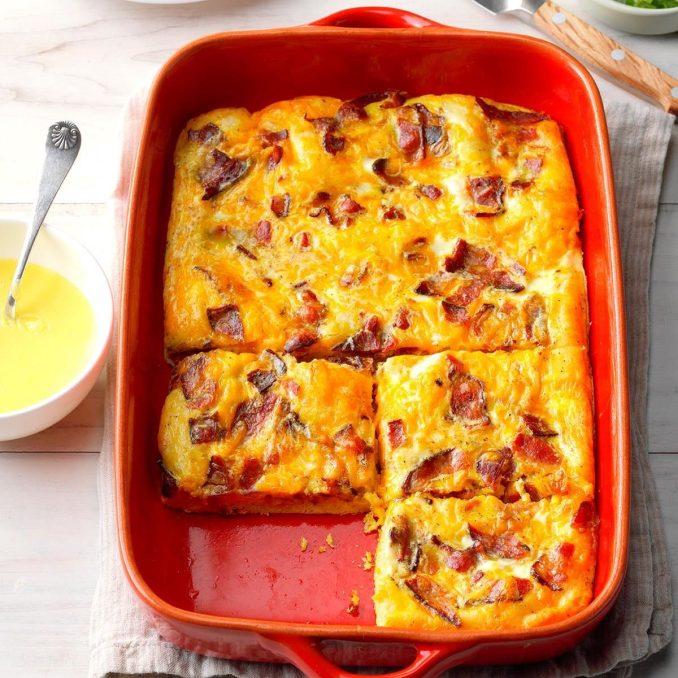 Crescent Egg Bake with Hollandaise Sauce Recipe | Taste of
