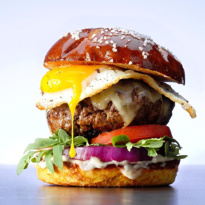 Gruyere and Egg Burgers Recipe | Taste of Home