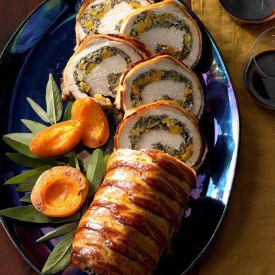Wild Rice-Stuffed Pork Loin