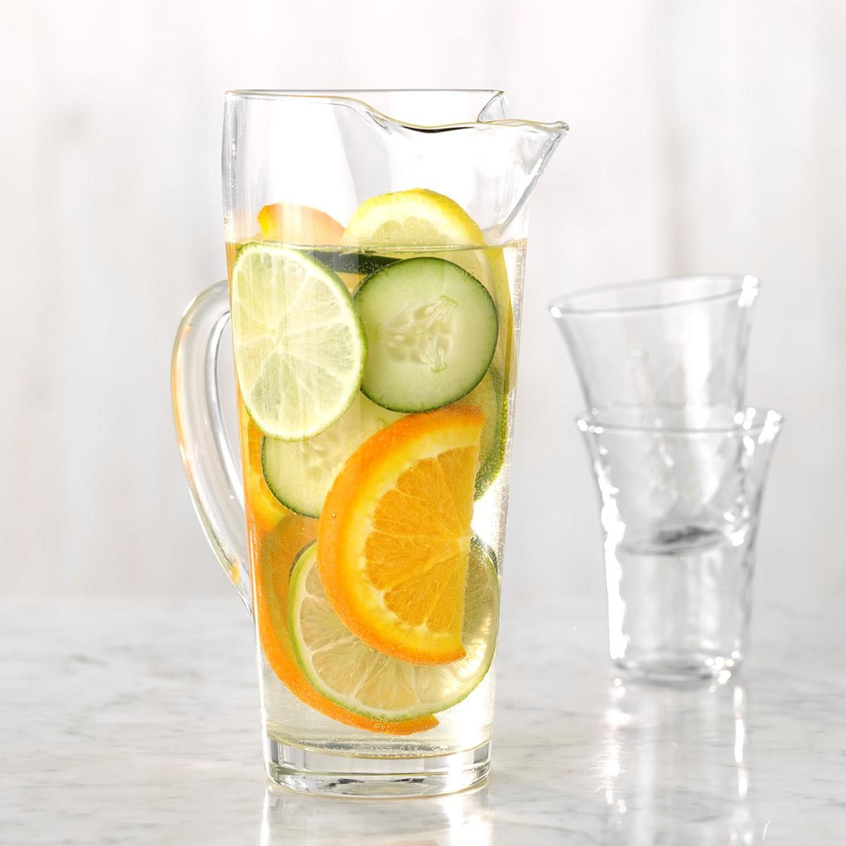 Citrus and Cucumber Infused Water Recipe  Taste of Home