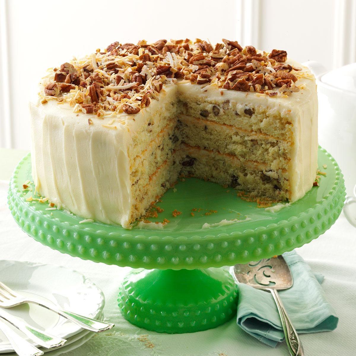 Coconut Italian Cream Cake Recipe Taste Of Home