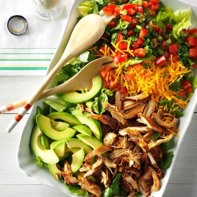 Slow Cooker Chicken Taco Salad | Taste of Home
