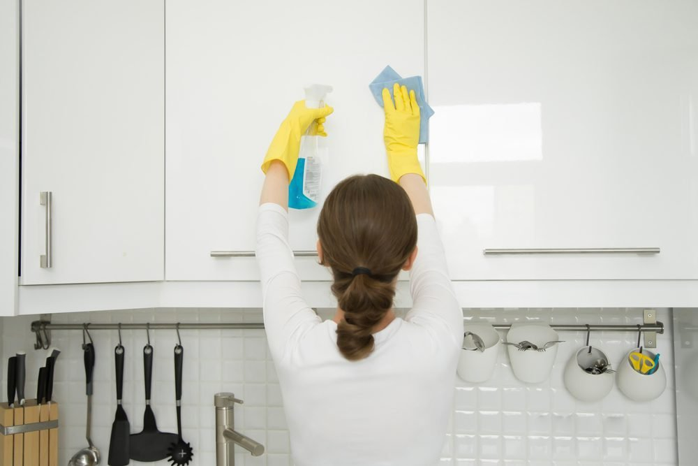 cleaning kitchen cabinets commercial sink how to clean cabinet doors taste of home grease off your