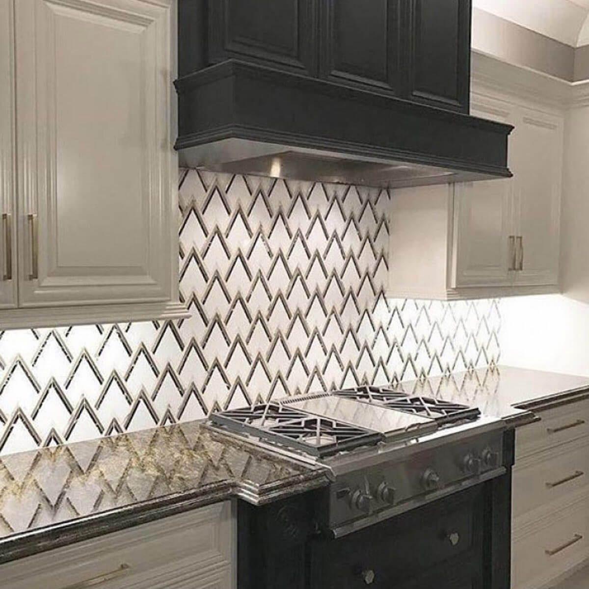 kitchen backspash hanging light 30 backsplash ideas taste of home with an art deco style