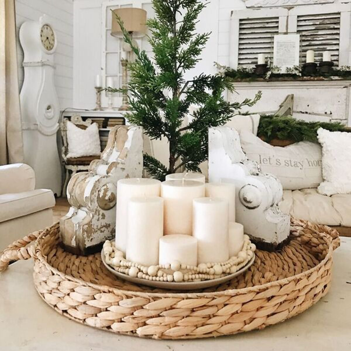 diy living room table decor swivel glider chairs 12 crafty ideas for centerpieces taste of home simple candle centerpiece