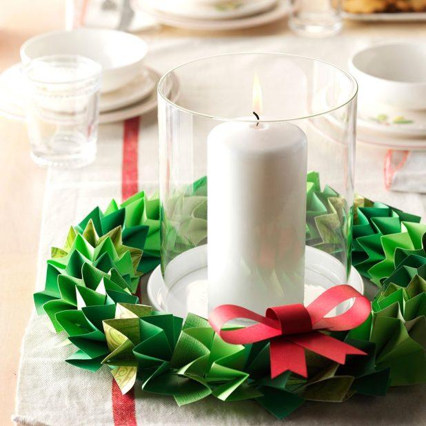 Paper Wreath Centerpiece