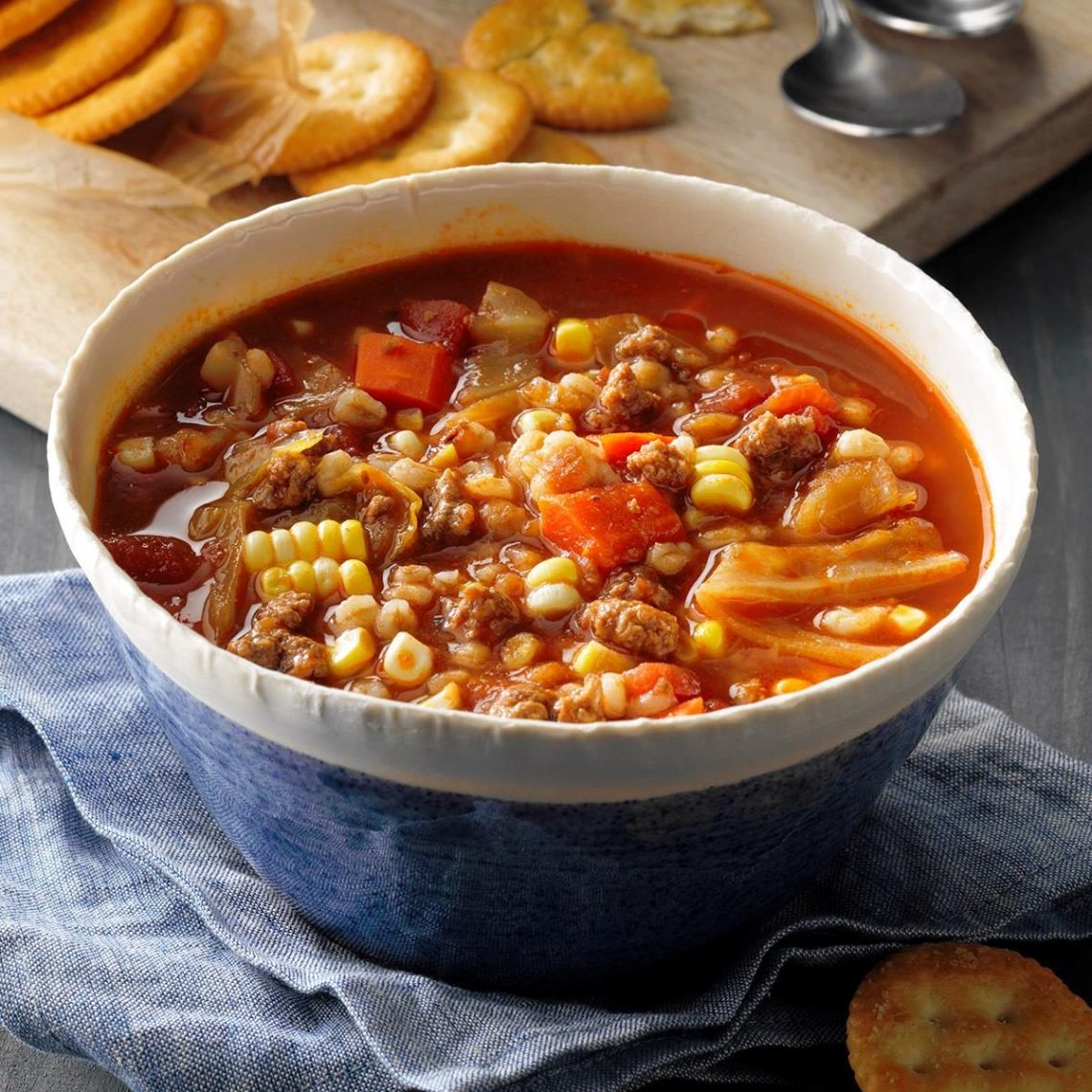 Tomato Beef Barley Soup Recipe: How to Make It | Taste of Home