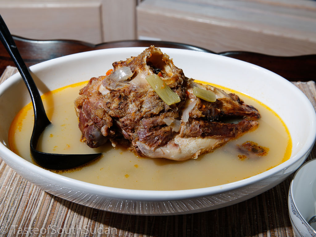 Ras Koruf soup, lamb head soup