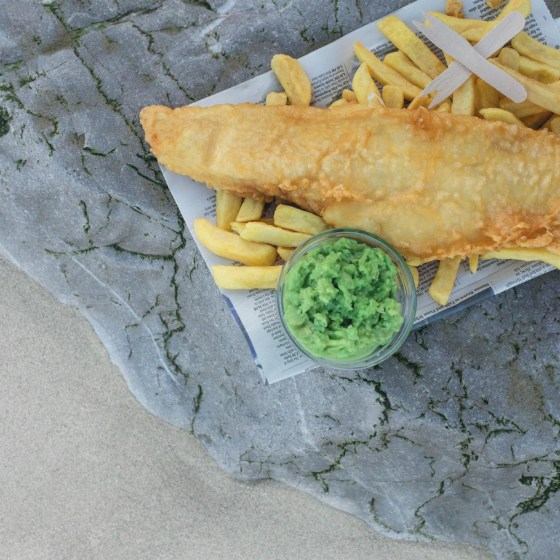 Takeaway fish and chips