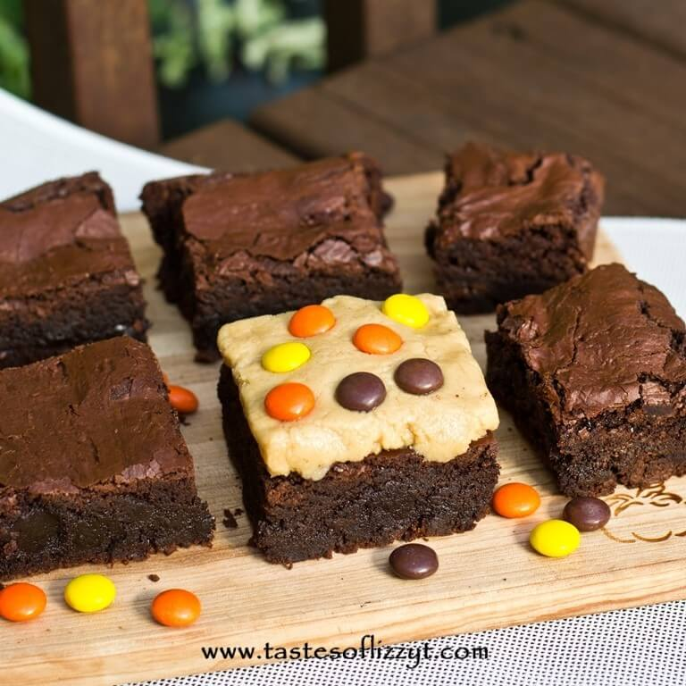 Reese's Peanut Butter Brownies {Tastes of Lizzy T}