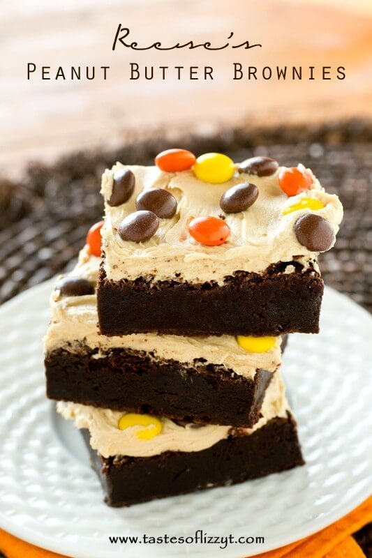 Reese's Peanut Butter Brownies - Tastes of Lizzy T
