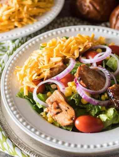 Barbecue Chicken Salad {Bob Evans Copycat Wildfire Chicken Salad}