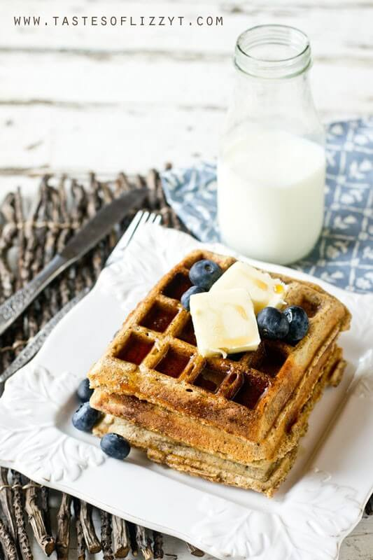 Need more fiber and heart-healthy nutrients in your diet? Try these Hearty Whole Grain Waffles for a great start to your morning. They are low in fat and sugar. Make up a big batch, freeze them and pull them out when you need them!