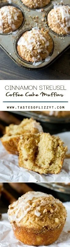 Cinnamon Streusel Coffee Cake Muffins Recipe - Tastes of Lizzy T